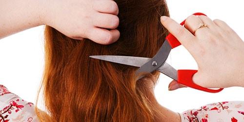 отрезать рыжие волосы