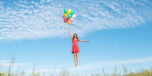 летать на шарах
