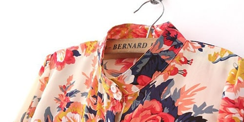 разноцветная блузка