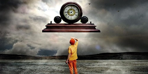 время на часах