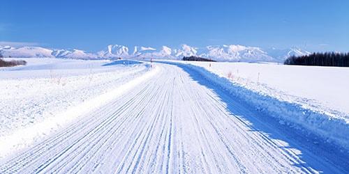 снежная дорога