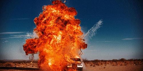 взрыв автомобиля