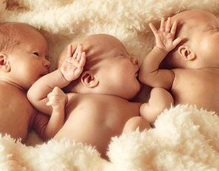 Родить тройню