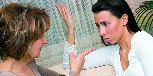 ссора с матерью