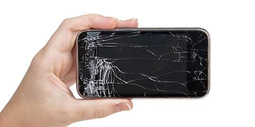 разбитый экран телефона