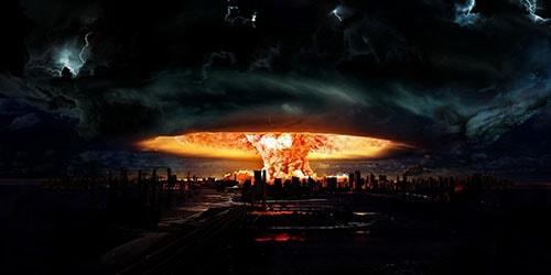 подрыв разрушительной бомбы