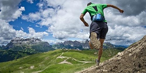 бег с горы