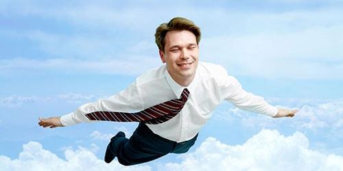 человек в полете