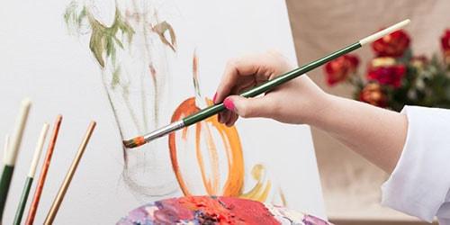 рисовать красками