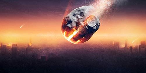 комета падает
