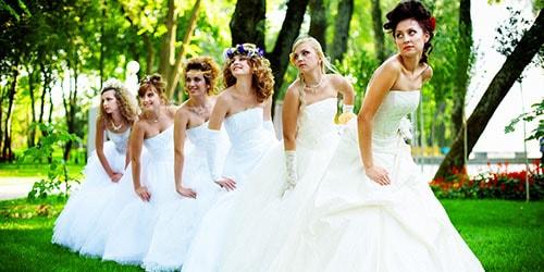 много невест