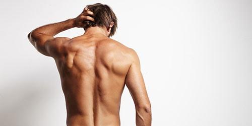голая мужская спина