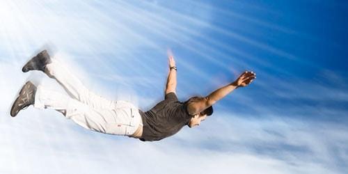 человек в небе