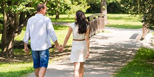 прогулка с мужем