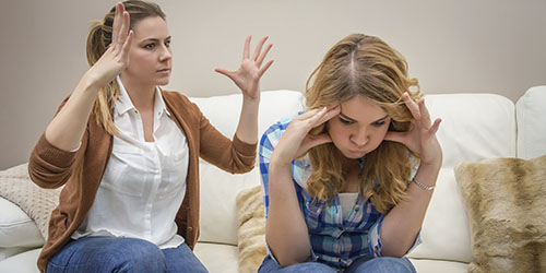 конфликт с матерью