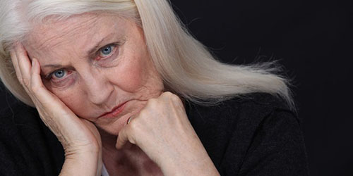 сердитая женщина