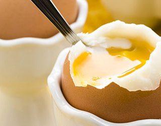 Есть вареное яйцо