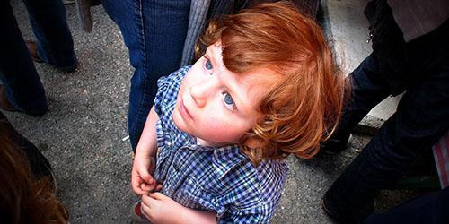 рыжий ребенок
