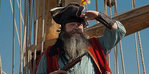 пират на корабле