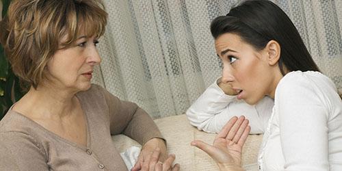 ссора с мамой