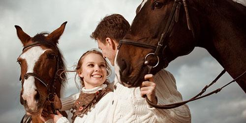 прогулка с лошадьми