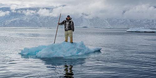 человек на льдине