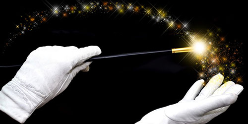 волшебная палочка в руках