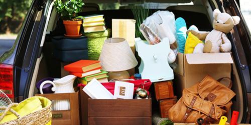 Собранные вещи для переезда