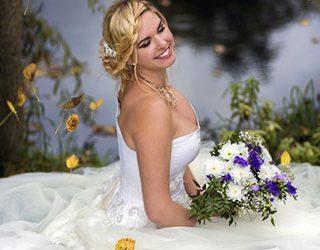 Свадебное платье на себе незамужней